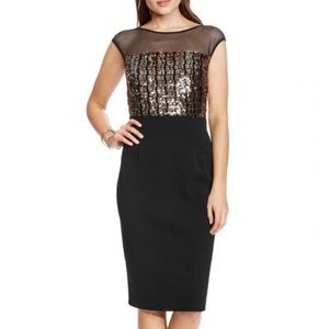 Vince Camuto Sequin-Bodice Dress Size 6 - NWT